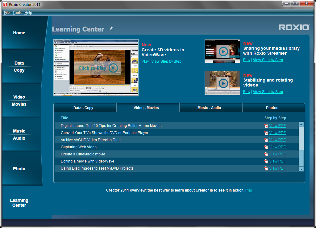 Creator Learning Center